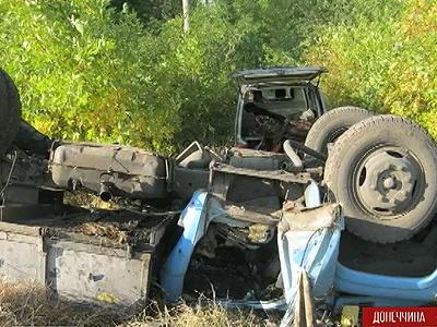 Біля Горлівки підірвалася на фугасі вантажівка з військовими