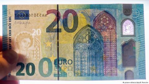 Європейський центробанк оновить дизайн 20-єврової купюри