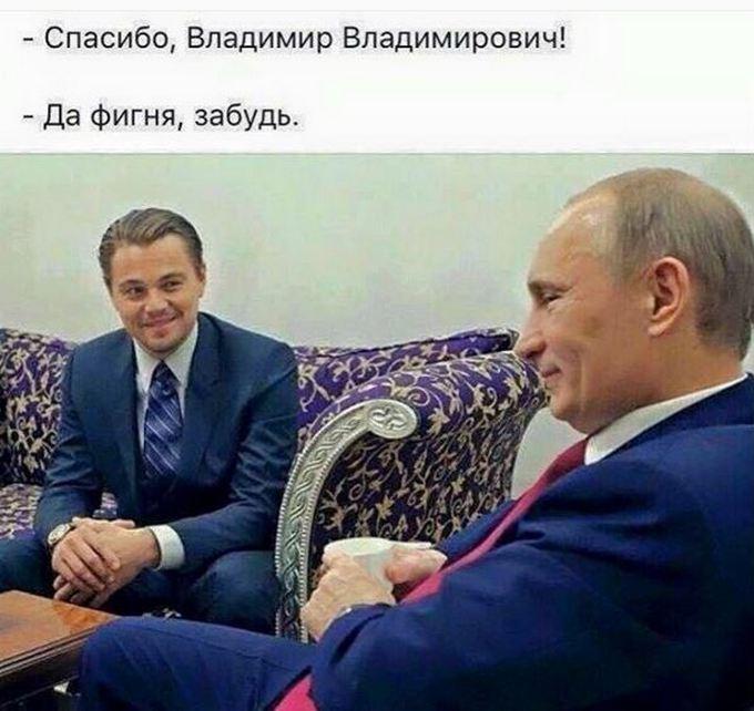 Минкульт России шутит: ДиКаприо получил Оскар благодаря Путину (1)