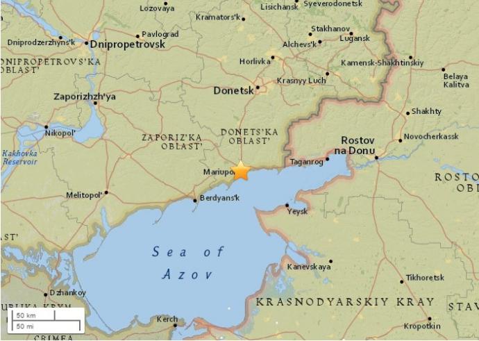 Возле Мариуполя произошло землетрясение (2)