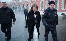 В Москве напали на кандидата в президенты РФ Ксению Собчак: появилось видео