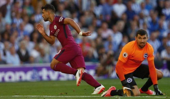 «Манчестер Сити» победил «Брайтон» вматче чемпионата Британии пофутболу