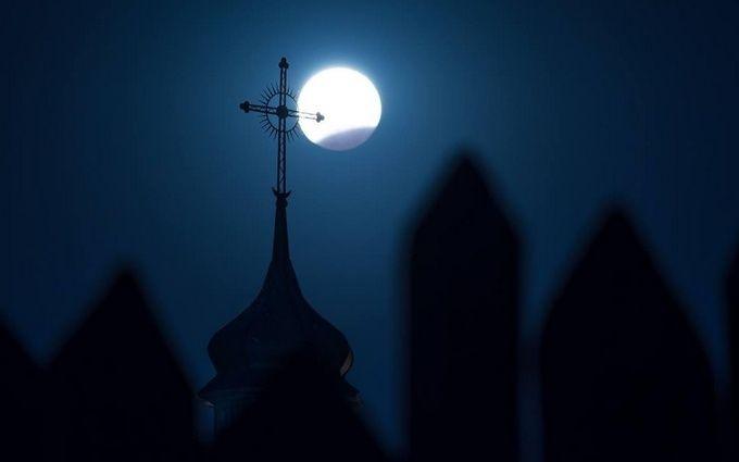 Лунное затмение в Украине: появились фото и видео