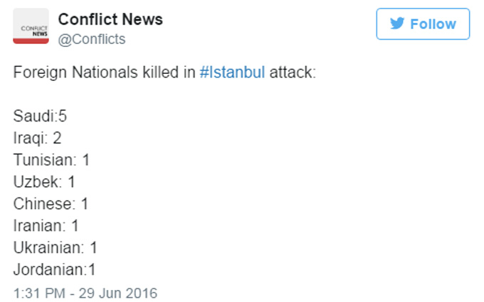 У Туреччині уточнили національність всіх загиблих у теракті (1)