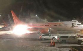 В аеропорту Канади сталася серйозна аварія: з'явилося відео з палаючим літаком