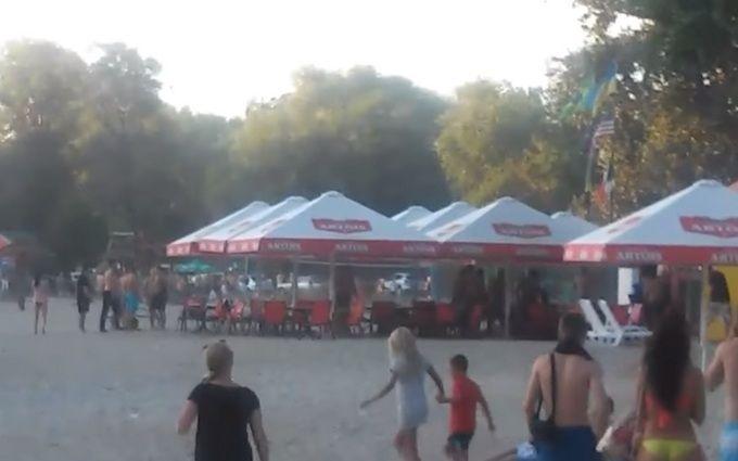 На пляже в Полтаве застрелили мужчину и ранили ребенка: появилось видео