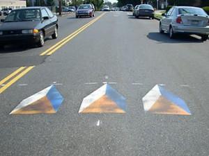 В США с превышением скорости будут бороться трехмерными рисунками