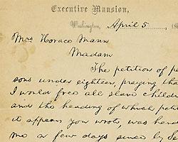 На аукционе Sotheby's продадут письма Линкольна