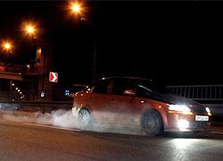 По Киеву с диким ревом среди ночи носилась сотня авто