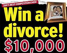 Австралийский журнал проводит конкурс с главным призом - бесплатным разводом