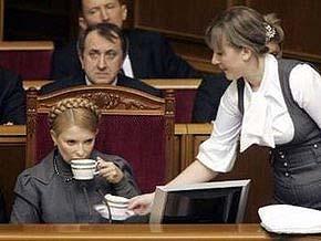 Тимошенко не стала выступать в Раде
