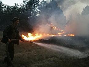 В Житомирской области пожар охватил тысячу гектаров леса