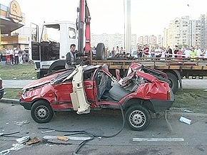 В Киеве погиб милиционер, вылетев через лобовое стекло машины при выполнении оперативного задания