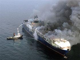 У берегов Хорватии горит турецкое судно с нефтепродуктами