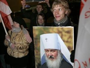 Ющенко поздравил патриарха Кирилла