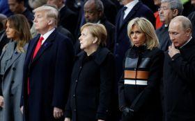 Первые рукопожатия: Путин и Трамп встретились в Париже