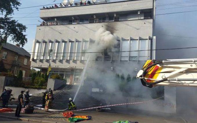 Поліція повідомила про рішення щодо дев'яти затриманих біля будівлі «Інтера»