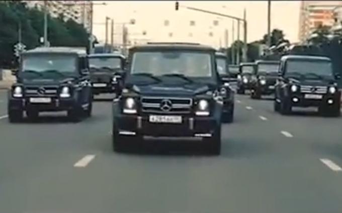 Соцмережі підірвав VIP-заїзд молодих силовиків Путіна: опубліковано відео