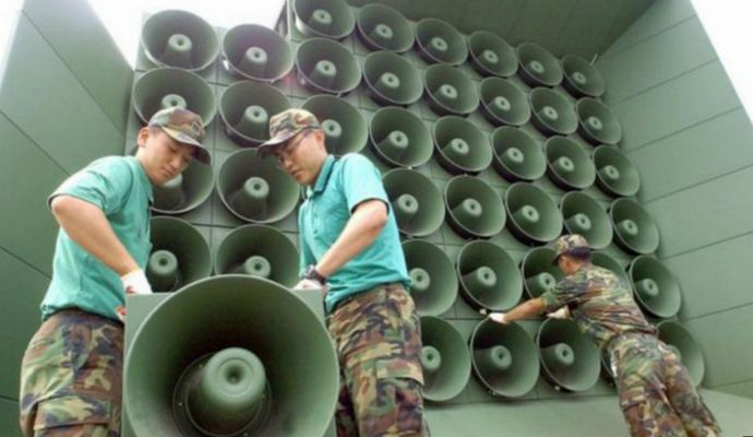 Южная и Северная Кореи устроили соревнование громкоговорителей на границе