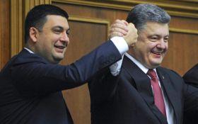 Гройсман и Порошенко возглавили рейтинг недоверия - соцопрос