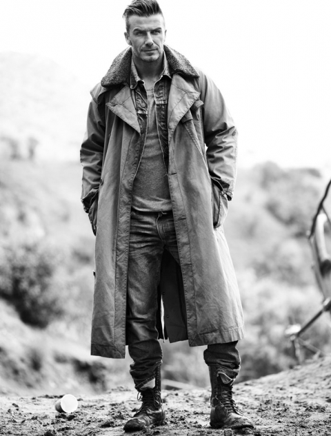 Дэвид Бекхэм (David Beckham) в фотосессии Джоша Олинса (Josh Olins) для журнала Esquire UK (сентябрь 2012), фото 1
