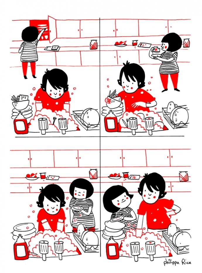 Как прекрасно быть вместе: веселые комиксы о семейной жизни (12)
