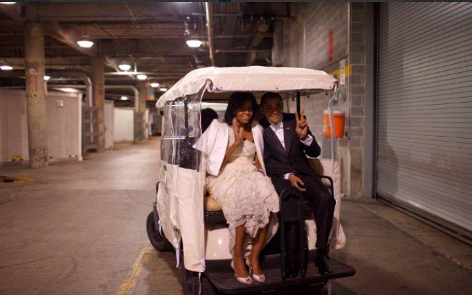 Мишель Обама показала ровные ноги мужа в социальных сетях