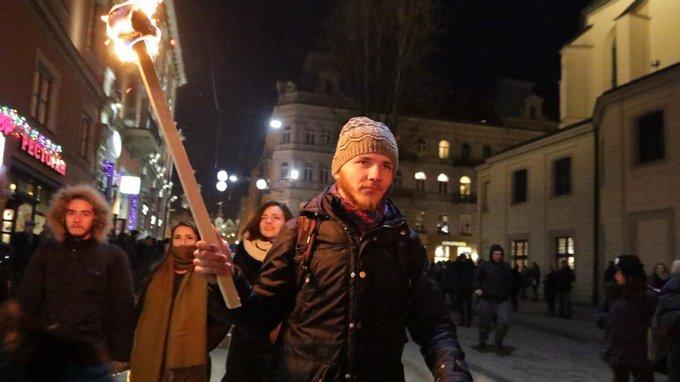 День рождения Бандеры отметили по всей Украине: появились фото и видео (4)