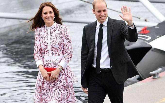 Кейт Міддлтон вразила канадців сукнею кольорів прапора від McQueen: з'явилися фото