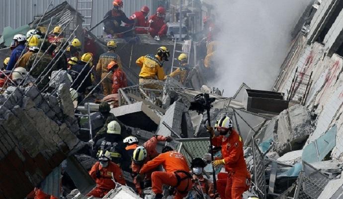 Увеличилось количество жертв землетрясения на Тайване