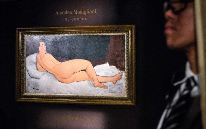 """Картина Модильяни """"Лежащая обнаженная"""" ушла с молотка за рекордную сумму"""