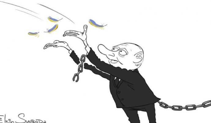 Вона полетіла: карикатурист їдко висміяв Путіна, який відпустив Савченко (1)