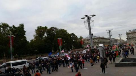Прихильники ігнорування президентських виборів у Білорусі збираються на площі Свободи (7 фото) (2)