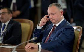 Президент Молдови вперше прокоментував аварію за його участю
