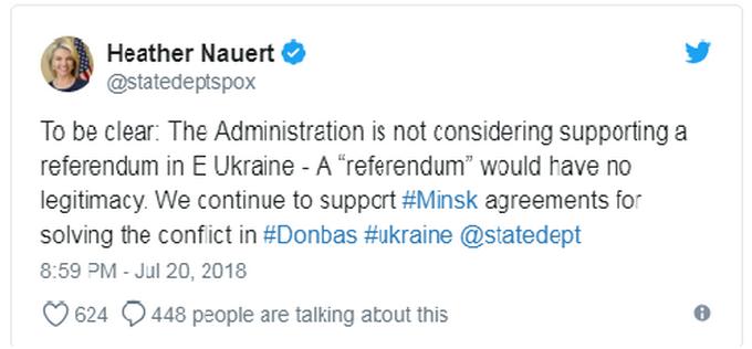 Держдеп США категорично відреагував на скандальну пропозицію Путіна по Донбасу (1)