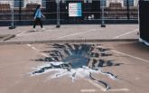 """Активисты показали """"глубокую пропасть"""" под Посольством РФ: опубликован 3D-рисунок"""