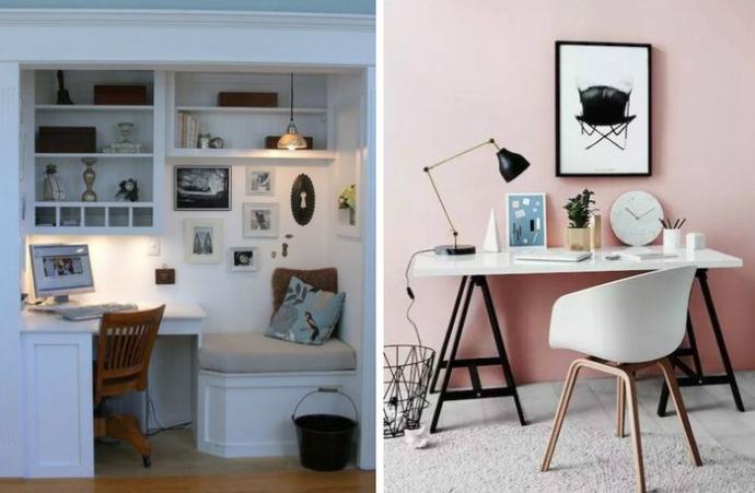 Подборка очень стильных домашних офисов в малогабаритках (23 фото)