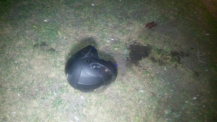 В Киеве прямо на автодороге произошла стрельба, погиб мотоциклист: опубликованы фото (3)