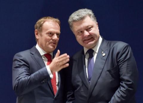 Порошенко и Туск согласились, что санкции против РФ следует продолжить