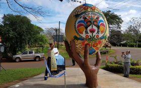 В Аргентине установили памятник писанке
