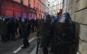 В Париже после окончания выборов произошли стычки демонстрантов с полицией