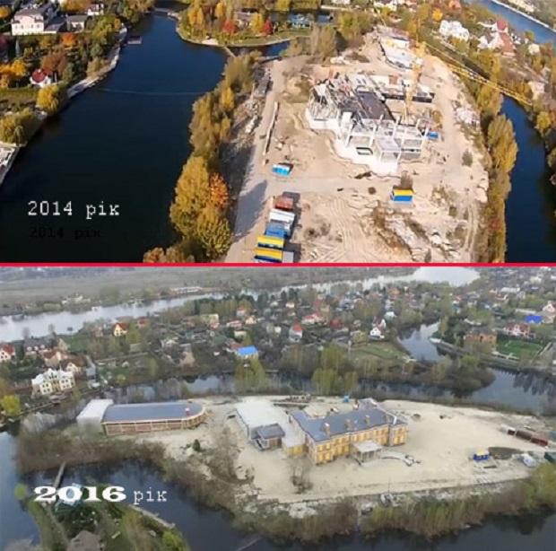 Нардеп показав палац соратника Януковича, що будується під Києвом: опубліковано відео (1)