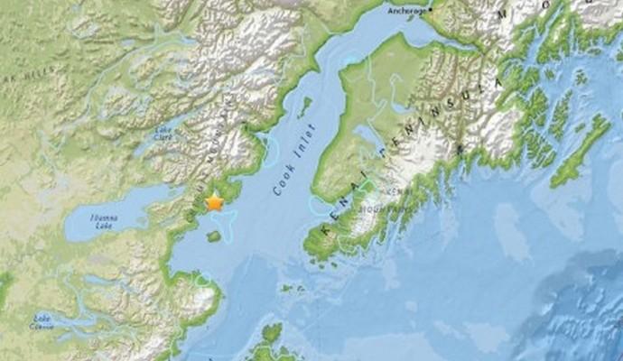 На Аляске произошло землетрясение магнитудой 7,1