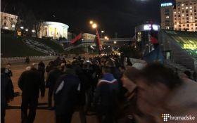 Акция сторонников блокады Донбасса: появилось видео из центра Киева