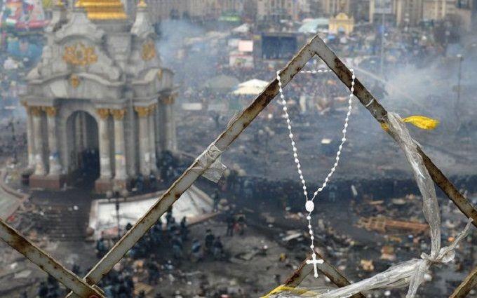 Вцентре столицы Украины  установлены рамки сметаллоискателями