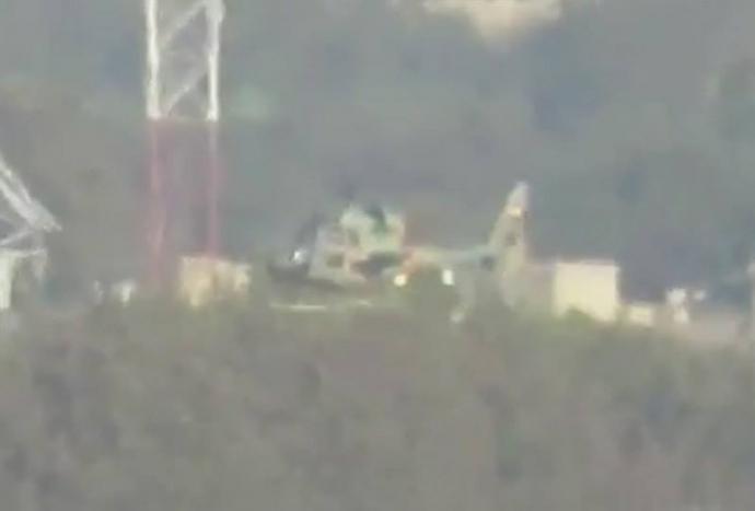 З'явилося відео зі збитим в Сирії бойовим вертольотом (1)