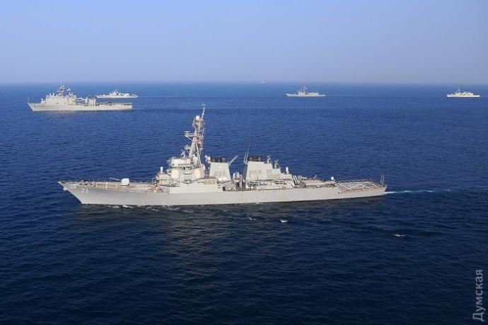 Завершення «Сі Бризу»: з'явилися вражаючі фото бойових кораблів (1)