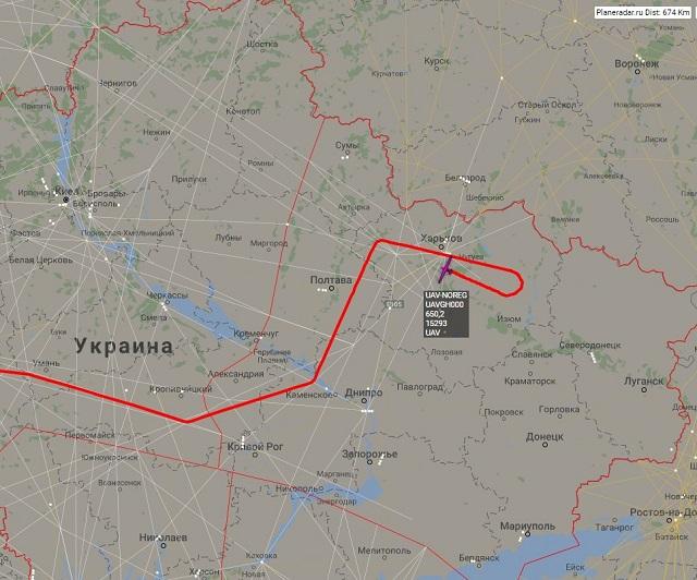 Американский дальний беспилотник провел еще одну разведку у русских западных границ