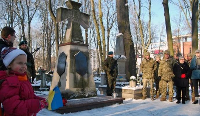 Украинские офицеры ЛитПолУкрбрига почтили память воинов армии УНР в Люблине