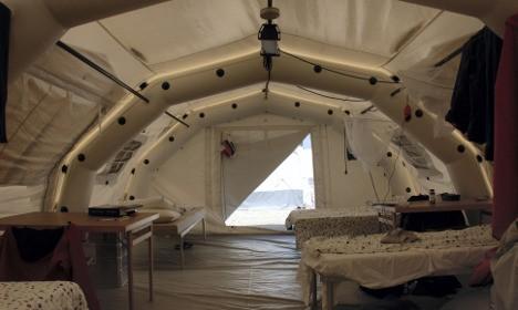 Швеція встановить зимовий наметове містечко для біженців